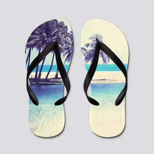 Tropical Beach Flip Flops